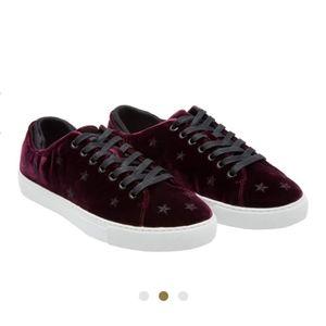 D.A.T.E Low Top Velvet Sneakers Bordeaux